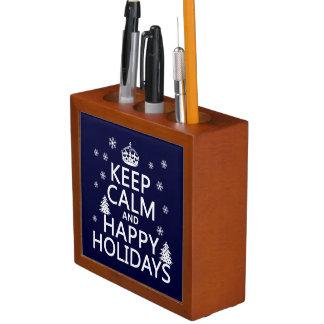 穏やかで、幸せな休日を保って下さい ペンスタンド