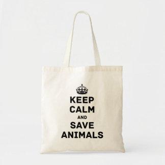 穏やかなおよび保存動物保って下さい トートバッグ
