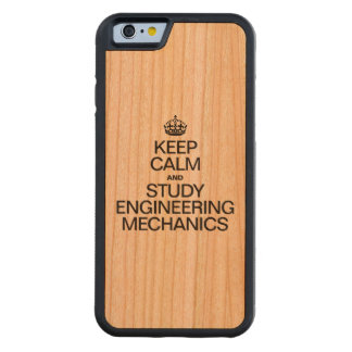 穏やかなおよび勉強のエンジニアリングの整備士保って下さい CarvedチェリーiPhone 6バンパーケース