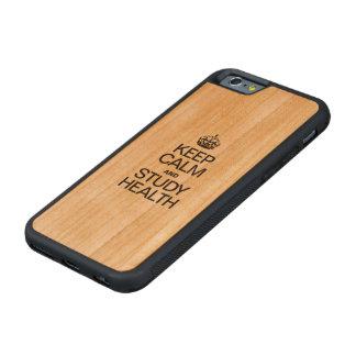 穏やかなおよび勉強の健康保って下さい CarvedチェリーiPhone 6バンパーケース