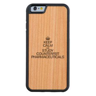 穏やかなおよび勉強の偽造の医薬品保って下さい CarvedチェリーiPhone 6バンパーケース