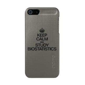 穏やかなおよび勉強の生物統計学保って下さい メタリックiPhone SE/5/5sケース