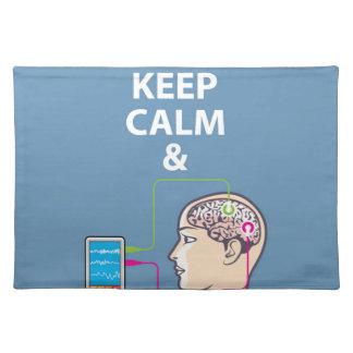 穏やかなおよび勉強の神経科学のベクトル保って下さい ランチョンマット