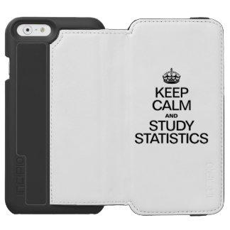 穏やかなおよび勉強の統計量保って下さい INCIPIO WATSON™ iPhone 6 ウォレットケース