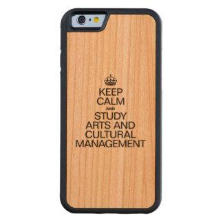 穏やかなおよび勉強の芸術および文化的な管理保って下さい CarvedチェリーiPhone 6バンパーケース