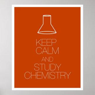 穏やかなおよび勉強化学保って下さい ポスター