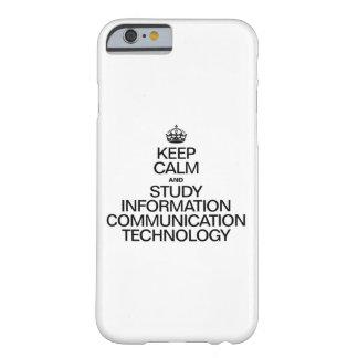 穏やかなおよび勉強情報コミュニケーションTECH保って下さい BARELY THERE iPhone 6 ケース