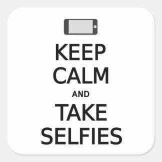 穏やかなおよび取得selfies保って下さい スクエアシール