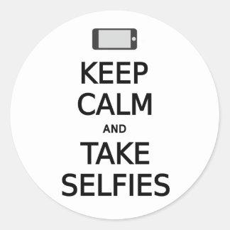 穏やかなおよび取得selfies保って下さい ラウンドシール