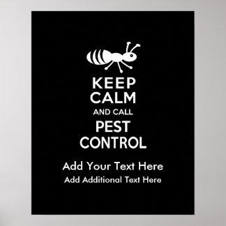 穏やかなおよび呼出し害虫駆除の害虫駆除業者保って下さい ポスター