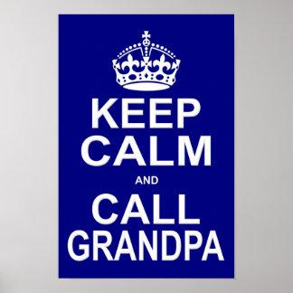 穏やかなおよび呼出し祖父保って下さい ポスター
