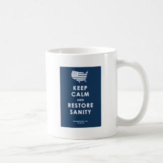穏やかなおよび回復の正気保って下さい コーヒーマグカップ