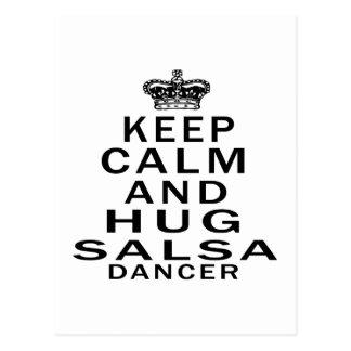 穏やかなおよび抱擁サルサのダンサー保って下さい ポストカード