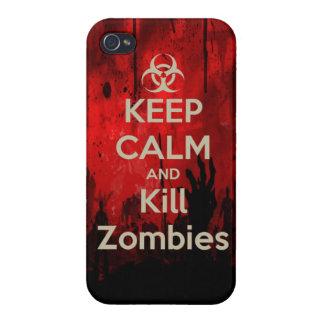 穏やかなおよび殺害のゾンビのゾンビのwa保って下さい iPhone 4/4S case