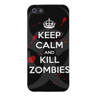 穏やかなおよび殺害のゾンビのゾンビのwa保って下さい iPhone 5 cover