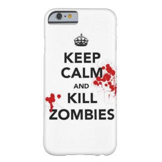 穏やかなおよび殺害のゾンビの電話場合保って下さい BARELY THERE iPhone 6 ケース