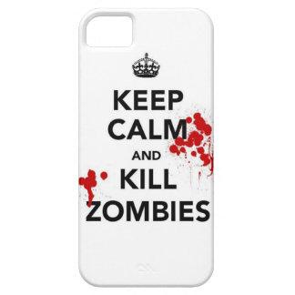 穏やかなおよび殺害のゾンビの電話場合保って下さい iPhone SE/5/5s ケース