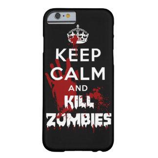 穏やかなおよび殺害のゾンビのiPhone6ケースの黒Cas保って下さい iPhone 6 ベアリーゼアケース