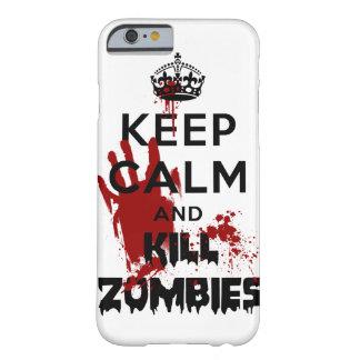 穏やかなおよび殺害のゾンビのiPhone6ケース保って下さい iPhone 6 ベアリーゼアケース