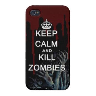 穏やかなおよび殺害のゾンビ保って下さい iPhone 4/4S CASE