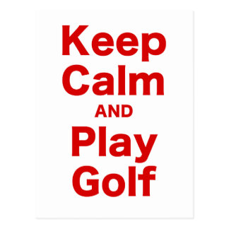 穏やかなおよび演劇のゴルフ保って下さい ポストカード