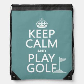 穏やかなおよび演劇のゴルフ-すべての色保って下さい ナップサック