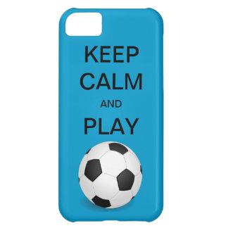 穏やかなおよび演劇のサッカーの穹窖のiPhone 5の場合保って下さい iPhone5Cケース