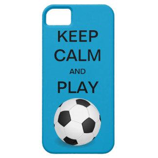 穏やかなおよび演劇のサッカーの穹窖のiPhone 5の場合保って下さい iPhone SE/5/5s ケース