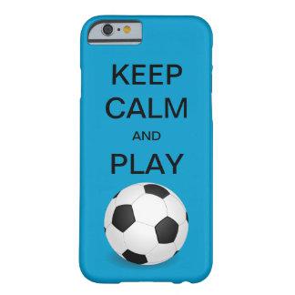 穏やかなおよび演劇のサッカーのiPhone6ケース保って下さい Barely There iPhone 6 ケース