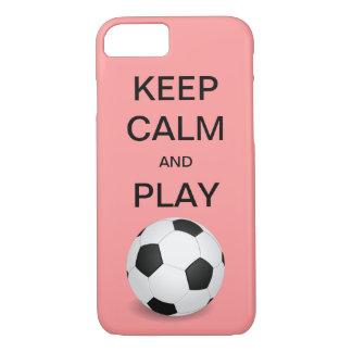 穏やかなおよび演劇のサッカーのiPhone 7の場合保って下さい iPhone 7ケース