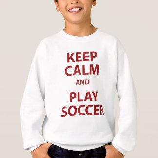 穏やかなおよび演劇のサッカー保って下さい スウェットシャツ
