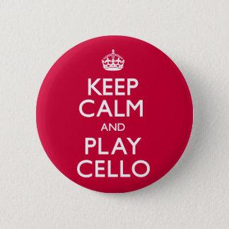 穏やかなおよび演劇のチェロ保って下さい(続けていって下さい) 5.7CM 丸型バッジ