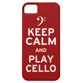 穏やかなおよび演劇のチェロ保って下さい iPhone SE/5/5s ケース