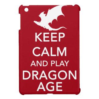 穏やかなおよび演劇のドラゴンの年齢保って下さい iPad MINI カバー