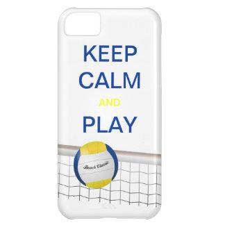 穏やかなおよび演劇のバレーボールのiPhone 5の場合保って下さい iPhone5Cケース