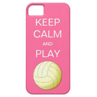 穏やかなおよび演劇のバレーボールのiPhone 5の場合保って下さい iPhone SE/5/5s ケース