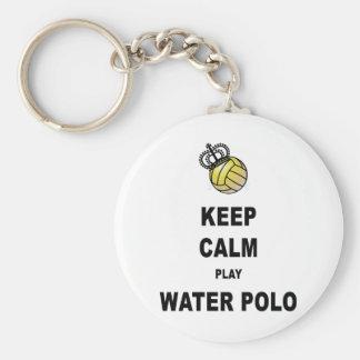 穏やかなおよび演劇の水球プロダクト保って下さい キーホルダー