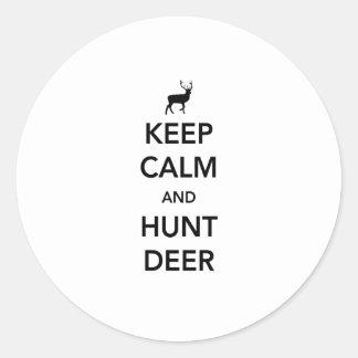 穏やかなおよび狩りのシカ保って下さい ラウンドシール