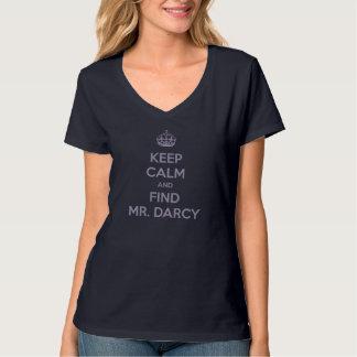穏やかなおよび発見の氏保って下さいDarcyジェーンAusten Dark Tシャツ