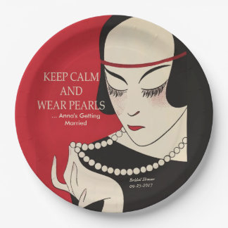 穏やかなおよび衣服の真珠のDecoのシャワーの紙皿保って下さい ペーパープレート
