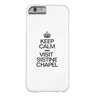 穏やかなおよび訪問のシスティーナ礼拝堂保って下さい BARELY THERE iPhone 6 ケース