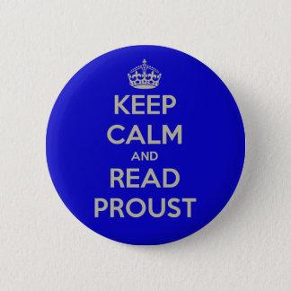 穏やかなおよび読書のProustボタンのバッジ保って下さい 5.7cm 丸型バッジ