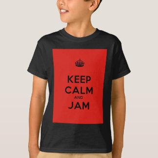 穏やかなおよび込み合いのTシャツ保って下さい Tシャツ