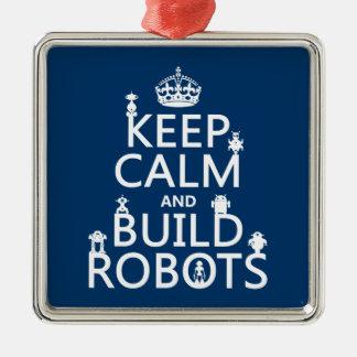 穏やかなおよび造りのロボットは保って下さい(あらゆる色で) メタルオーナメント
