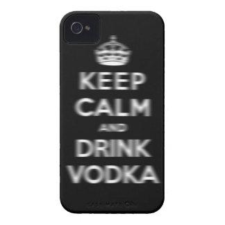 穏やかなおよび飲み物のウォッカ保って下さい Case-Mate iPhone 4 ケース