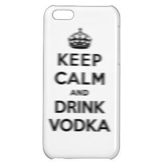 穏やかなおよび飲み物のウォッカ保って下さい iPhone5Cケース