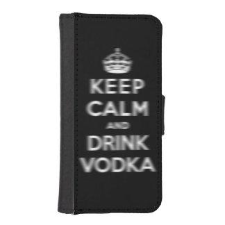穏やかなおよび飲み物のウォッカ保って下さい iPhoneSE/5/5sウォレットケース