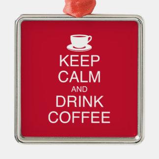 穏やかなおよび飲み物のコーヒーオーナメント保って下さい メタルオーナメント