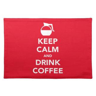 穏やかなおよび飲み物のコーヒーランチョンマットは保って下さい(カスタマイズ可能な) ランチョンマット