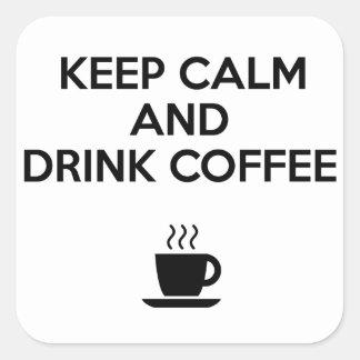 穏やかなおよび飲み物のコーヒー保って下さい スクエアシール